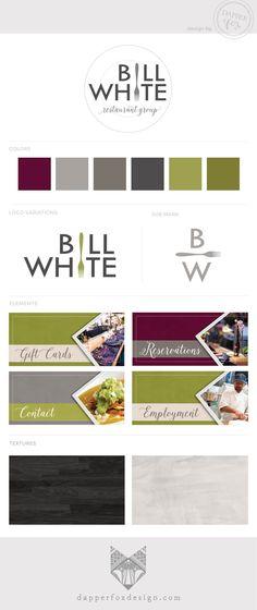 Bill White Restaurant Group in Park City Utah - Website Design and Branding / Logo Design by Dapper Fox Design