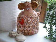 pan Beran / Zboží prodejce elf | Fler.cz Sheep, Elf, Pottery, Decor, Paper Mache, Animales, Ceramica, Decoration, Pottery Marks