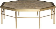 Vanguard Furniture: P208C - Tranquility (Cocktail Table). Love this piece!!! They allow customization of the stone top but blue stone or simple gray granite or marble may work...possibly shagreen too.