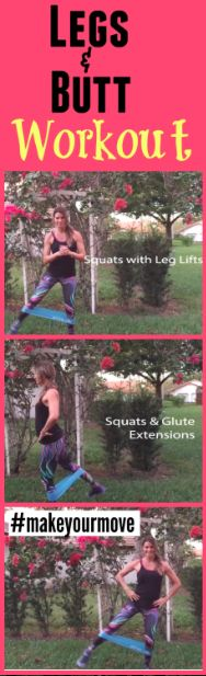 Legs and Butt Workout that can be done at home.  Its super fast and you will totally feel it.  Great for toning.  My cute outfit and band at http://www.kohls.com  See the short video on how to do the exercises properly here! Click to see!