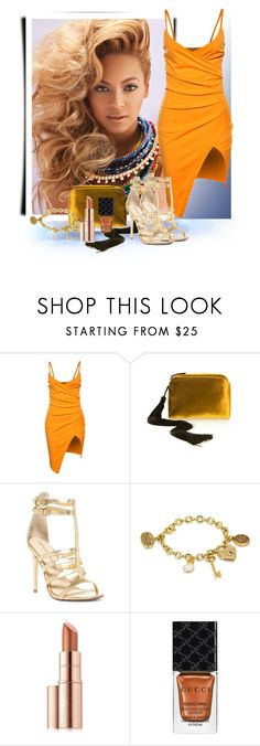 """""""Beyonce"""" by janie-xox ❤ liked on Polyvore featuring WithChic, The Row, Chinese Laundry, Disney, Estée Lauder and Gucci"""
