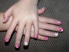 Pink Primrose & Colorful Polka Jamberry Juniors. Manicure. Girls.  Jr.  Purchase at http://jneireiter.jamberrynails.net/product/colorful-polka--pink-primrose#.UznIL_ldXrc