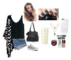 """""""Every Word You Say"""" by sahar-i-my-name ❤ liked on Polyvore featuring Converse, MANGO, Native Union, Bobbi Brown Cosmetics and Kate Spade"""