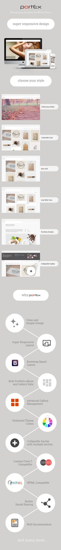 Portex – Photography Portfolio WordPress Theme