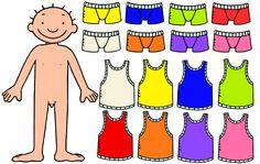 jules kleuren ondergoed. Met opdrachtkaarten Jules het juiste ondergoed aandoen