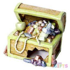 Glofish Treasure Chest Ornament - Small