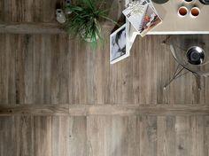 medium Floor tiles intended to look like short wooden floor boards