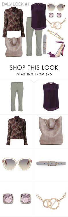 """Daily Look #1"" by marina-pagani ❤ liked on Polyvore featuring J Brand, Rebecca Taylor, Kenzo, Christian Louboutin, Balenciaga, Maison Boinet, Swarovski, Kelly Wearstler, Alexis Bittar and Pumps"