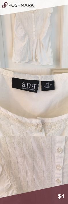 Lace sleeveless blouse Sleeveless blouse with lace accent, tie back a.n.a Tops Blouses