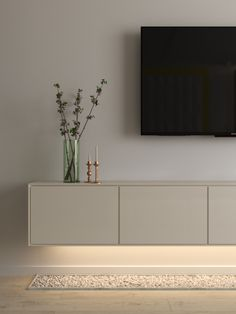 Small Space Living Room, Living Room Tv Unit Designs, Living Room Modern, Home Living Room, Interior Design Living Room, Living Room Decor, Small Rooms, Small Spaces, Tv On Wall Ideas Living Room