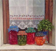 Aesthetics of Windows Decoupage, Tee Kunst, Artist Workshop, Dark Artwork, Cottage Art, Acrylic Painting Tutorials, Tea Art, Country Art, Fruit Art