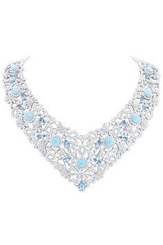 Haute Joaillerie 2013: Van Cleef & Arpels Aigue-marine, diamants et cabochons de turquoises