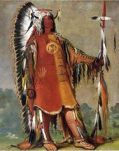 George Catlin's Indian Gallery mAh to Toh PA 'Four Bears' Fine Art Print | eBay