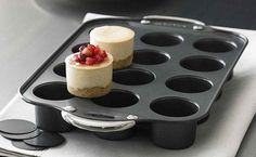 "NORPRO nonstick aluminum 12 MINI 2"" CHEESECAKE/QUICHE Baking PAN complete EXC #Norpro"