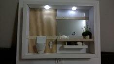 Maquete de lavabo em quadro grande Led