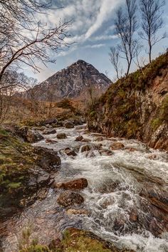 River Coupall & Stob Dearg, near Glencoe, Scotland
