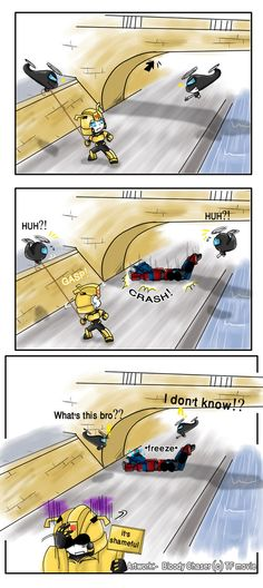 Behind the scene 4_TF Movie by BloodyChaser on deviantART(Bumblebee just only shake his head because he can't talk... :3)