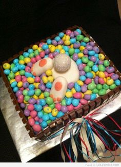 Bunny tail cake Love this!