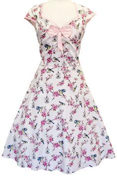 Super fede Birdcage cremefarvet kjole 50 Modetøj til Damer i behagelige materialer