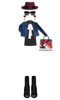 """Diametrically Opposed"" by kathyaalrust ❤ liked on Polyvore featuring Burberry, RED Valentino, Chanel, Yves Saint Laurent, Sensi Studio, Valentin Magro, Barbara Bui and jeanjackets"