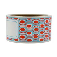 Envelope wrap tape, red-turquoise