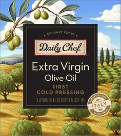 Vintage olive oil labels