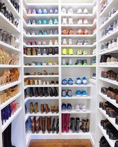 #thehomeedit #closet #shoes #organization & Stunning closets // 40 shoe organizing tips and tricks // closet ...