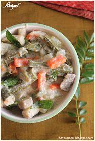 Hot pot cooking: Aviyal | Vegetable stew
