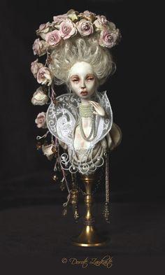 Secret Garden a unique art doll bust by tirelessartist on Etsy, $850.00