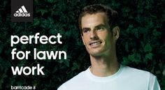 Video: Andy Murray and his adidas Barricade 8 + Wimbledon #TennisCouture #TennisFashion