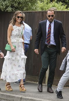 Pippa Middleton arriving at this year's Wimbledon with brother James