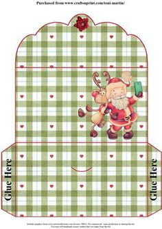Santa Selfie Christmas Money Wallet on Craftsuprint designed by Toni Martin - A money wallet to co-ordinate with my mini kit cup637930_1894 - Now available for download!