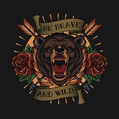 Check out this awesome 'bear+tattoo' design on @TeePublic!