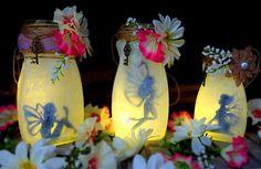 Linternas de hada con botes de cristal
