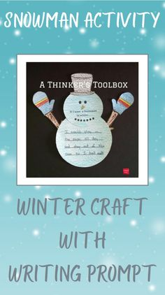 Check out this cute and easy snowman craft with writing prompt that is prefect for your Kindergartners or 1st Graders. #Frosty #snowman #winter #craft #kindergarten #decor