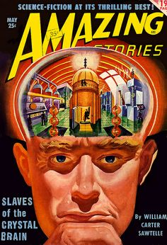 How does my brain look in this? Amazing Stories cover