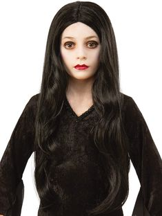 Rubie's Addams Family Animated Movie Child's Morticia Wig, One Size