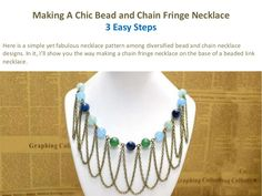 This bead and chain necklace design only made use of two types of common chain and an array of warm-colored Jade beads, but it has definitely made a statement and added texture and movement to your looks! Hope you'll like my bronze chain necklace!