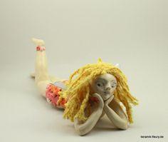 Keramik Figur Elfe