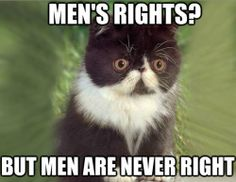 men's rights? but men are never right