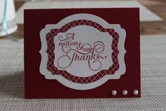 Stampin' Up! A Million and One Thanks