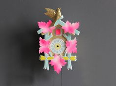 This rehabbed vintage cuckoo clock is modern cool. #Funkytime