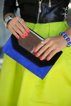 cobalt blue and neon yellow #colorcombo #love
