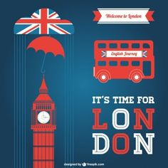 London Vectors, Photos and PSD files Union Jack, Skyline Von London, London Flag, Journey Journey, London Party, Picture Icon, Web Design Projects, London Calling, Belle Photo