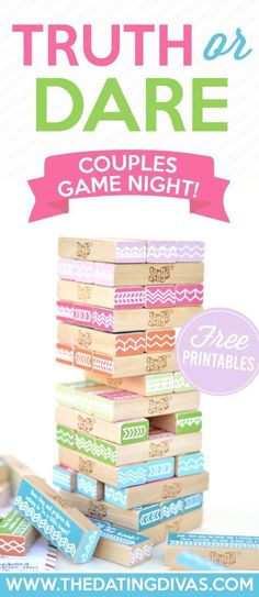 Diy Crafts Ideas : Free Printable Couples Game Night love this easy date idea!!