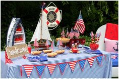 Nautical party table