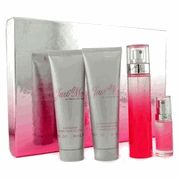 Paris Hilton Just Me Perfume Gift Set For Women 3.4 Oz Edp Spray 3.0 Oz Body Lotion 3.0 Oz Shower Gel And Mini (4 Pc Set)