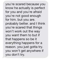 My best friend actually just gave me the same advice the other day. O.O