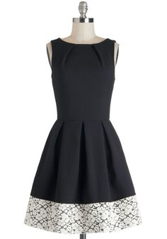 Luck be a lady dress in black and lace