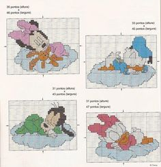 Oi pessoal... voltei depois de um graaaande gripe! Encontrei estes fofos esquemas no Blog http://cantinhodegraficosespeciaisdavana.blogspo...